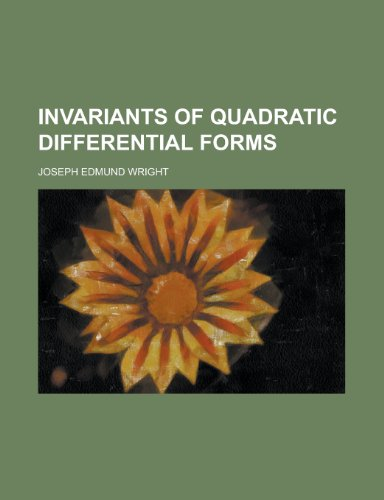 9781154985108: Invariants of Quadratic Differential Forms