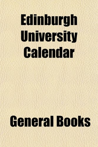 Edinburgh University Calendar