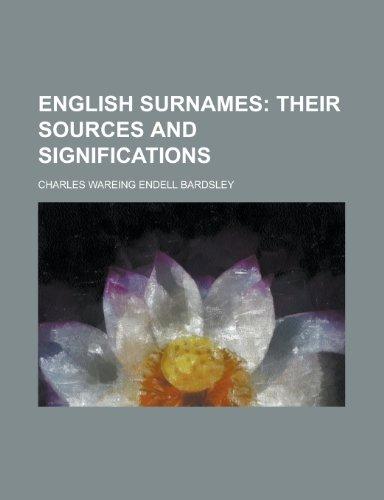 9781155031316: English Surnames