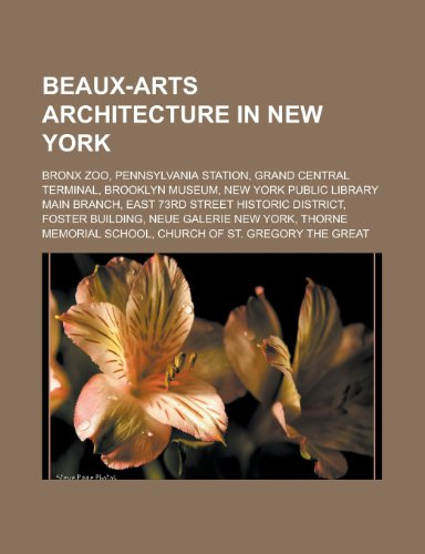 9781155543666: Beaux-Arts Architecture in New York