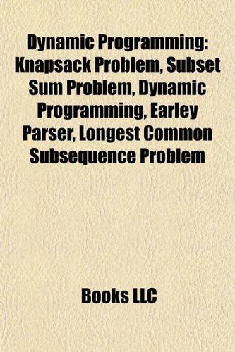 9781155768465: Dynamic programming: Knapsack problem, Subset sum