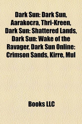 9781155947785 Dark Sun Dark Sun Aarakocra Thri Kreen Dark Sun