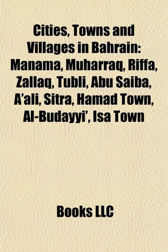9781157234456 Cities Towns And Villages In Bahrain Manama
