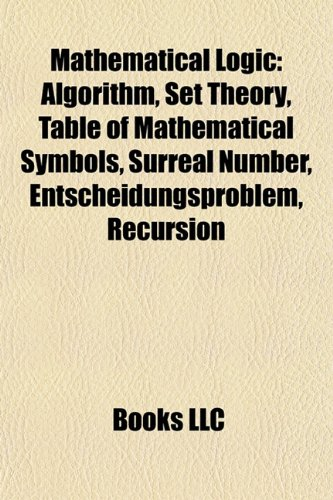 9781157608929 Mathematical Logic Algorithm Set Theory List Of