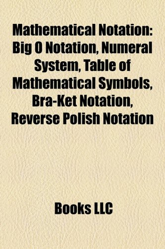 9781157608936 Mathematical Notation Big O Notation Numeral System