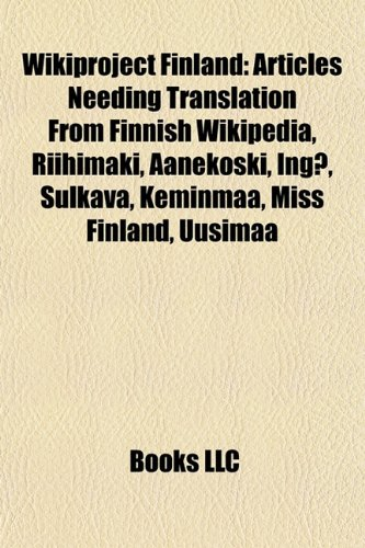 Wikiproject Finland: Articles Needing Translation From Finnish: LLC, Books