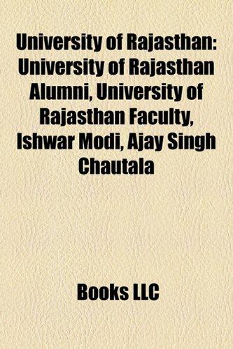 9781158067145: University of Rajasthan: University of Rajasthan Alumni, University of Rajasthan Faculty, Ishwar Modi, Ajay Singh Chautala