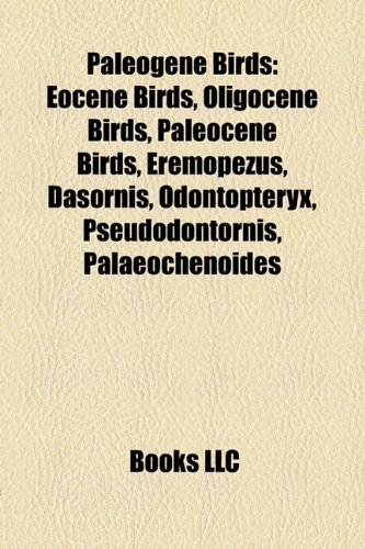 Paleogene Birds - Source Wikipedia