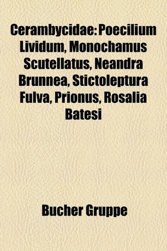 9781158786084: Cerambycidae: Poecilium Lividum, Monochamus Scutellatus, Neandra Brunnea, Stictoleptura Fulva, Prionus, Rosalia Batesi
