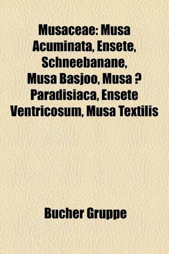 9781159188641: Musaceae: Musa Acuminata, Ensete, Schneebanane, Musa Basjoo, Musa X Paradisiaca, Ensete Ventricosum, Musa Textilis,