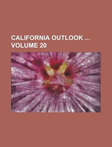 california outlook volume 20: group, books (author)
