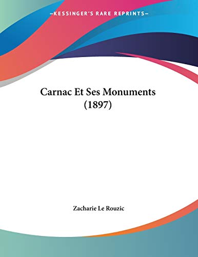 9781160051323: Carnac Et Ses Monuments (1897) (French Edition)