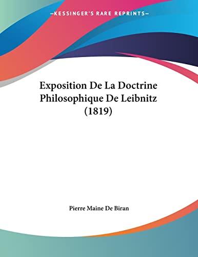 9781160092326: Exposition De La Doctrine Philosophique De Leibnitz (1819) (French Edition)