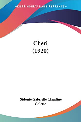 9781160338240: Cheri (1920) (French Edition)