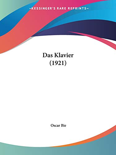 9781160367165: Klavier (1921)