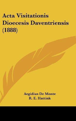9781160567152: Acta Visitationis Dioecesis Daventriensis (1888) (Latin Edition)