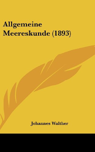 9781160597005: Allgemeine Meereskunde (1893)