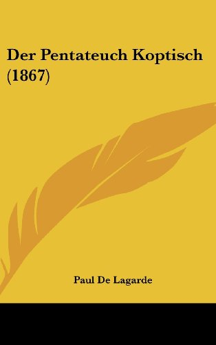 9781160686761: Der Pentateuch Koptisch (1867) (German Edition)