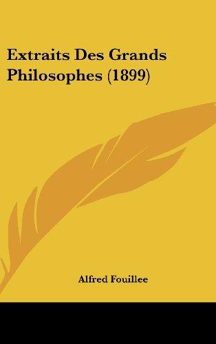 9781160694490: Extraits Des Grands Philosophes (1899)
