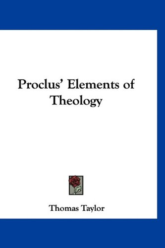 9781160999144: Proclus' Elements of Theology