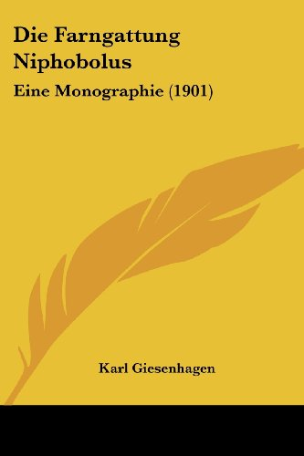 9781161089271: Farngattung Niphobolus: Eine Monographie (1901)