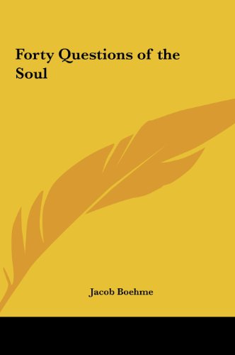 9781161351163: Forty Questions of the Soul