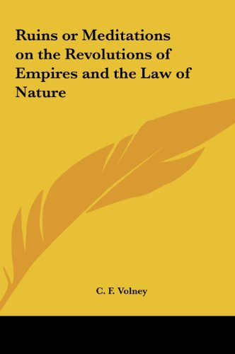 9781161355697: Ruins or Meditations on the Revolutions of Empires and the Law of Nature