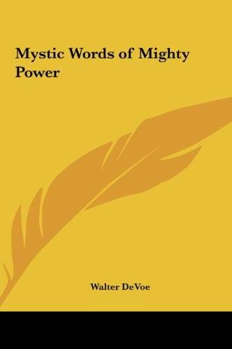 9781161356175: Mystic Words of Mighty Power