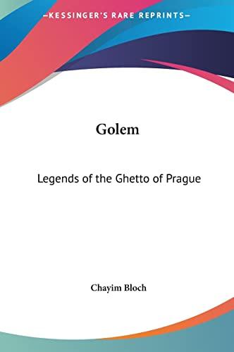 9781161357493: Golem: Legends of the Ghetto of Prague