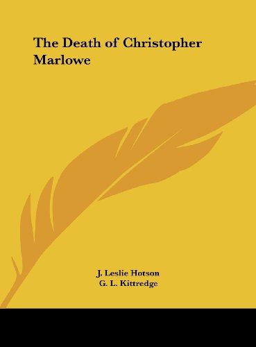 9781161363111: The Death of Christopher Marlowe