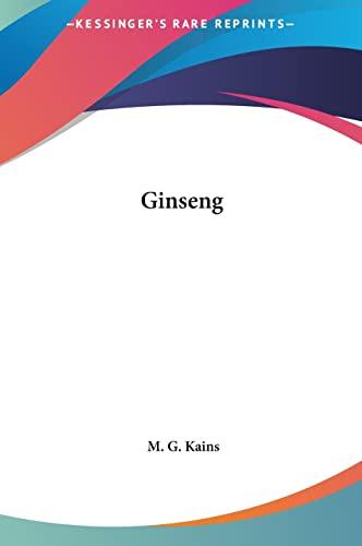 9781161368482: Ginseng