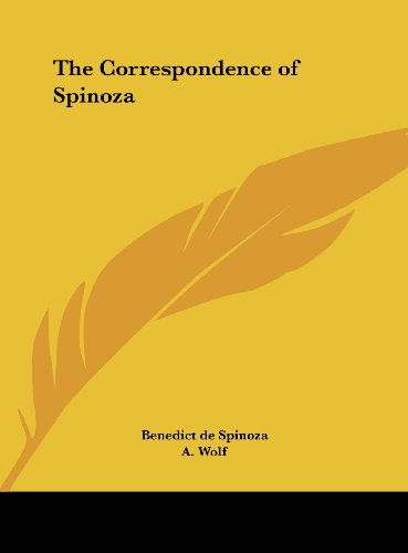 9781161369014: The Correspondence of Spinoza