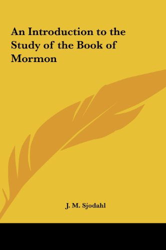 9781161370096: An Introduction to the Study of the Book of Mormon