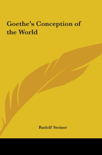 9781161375282: Goethe's Conception of the World