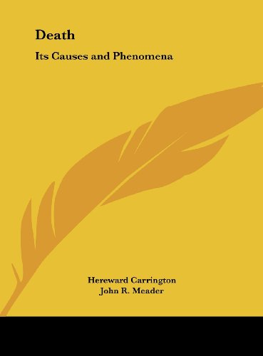 9781161378009: Death: Its Causes and Phenomena
