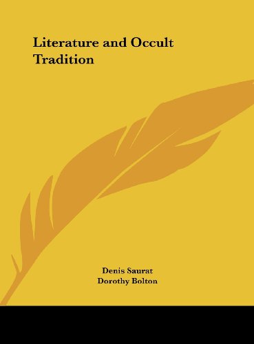 9781161388305: Literature and Occult Tradition