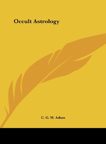 9781161389159: Occult Astrology
