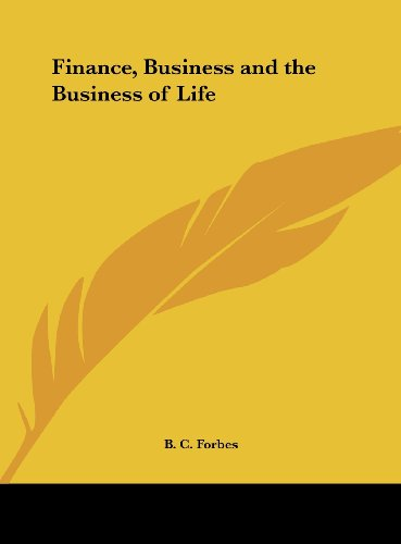 9781161396041: Finance, Business and the Business of Life
