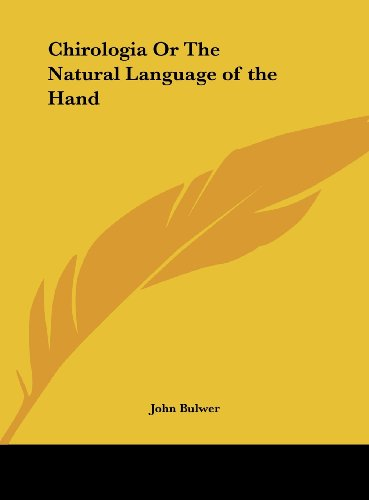 9781161397154: Chirologia or the Natural Language of the Hand