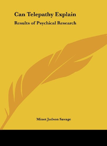 9781161399189: Can Telepathy Explain: Results of Psychical Research
