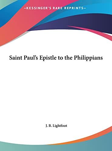 9781161404210: Saint Paul's Epistle to the Philippians