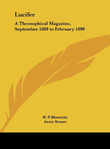 9781161408775: Lucifer: A Theosophical Magazine, September 1889 to February 1890