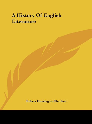 9781161417449: A History Of English Literature