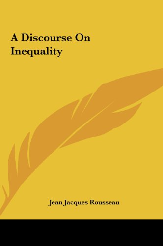 9781161428605: A Discourse on Inequality