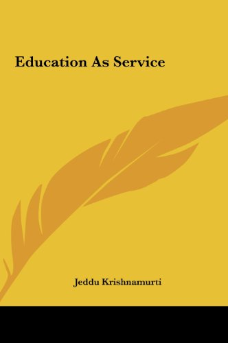9781161429503: Education as Service