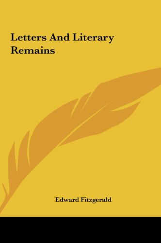 9781161439229: Letters And Literary Remains