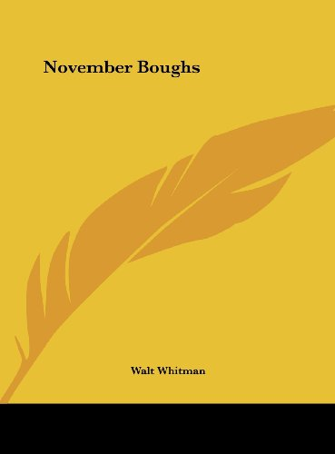 9781161445206: November Boughs