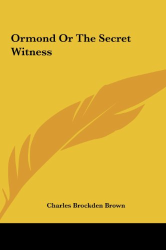 9781161446685: Ormond or the Secret Witness