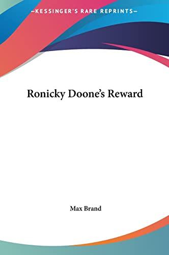 9781161451153: Ronicky Doone's Reward