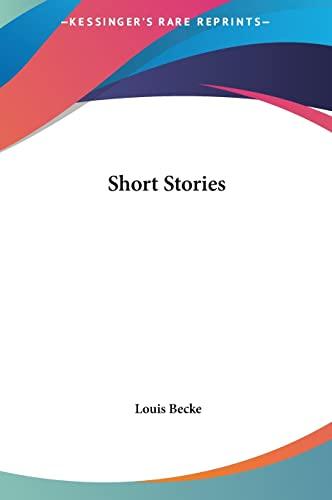 9781161452471: Short Stories